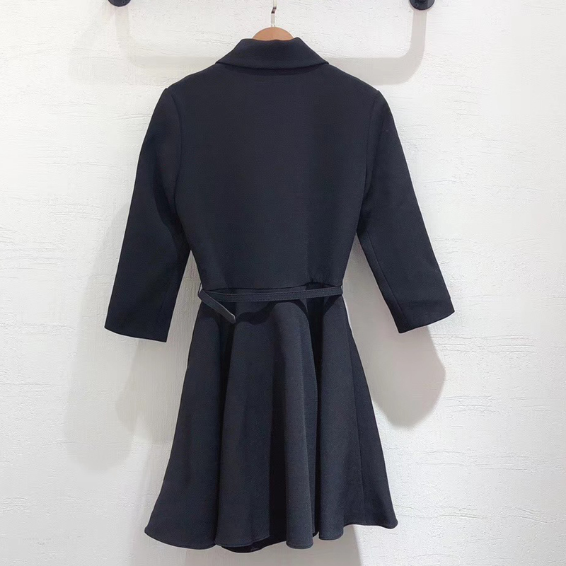 Elegant Mini Dress Women 2019 Autumn Long Sleeve Dress Female Office Wear A line Fashion Dress - 4