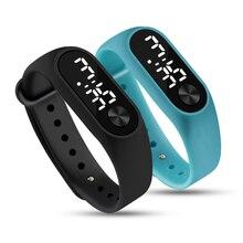 Модные мужские цифровые часы женские браслеты спортивный светодиодный Электронные конфеты силиконовые наручные часы для детей Детские женские часы