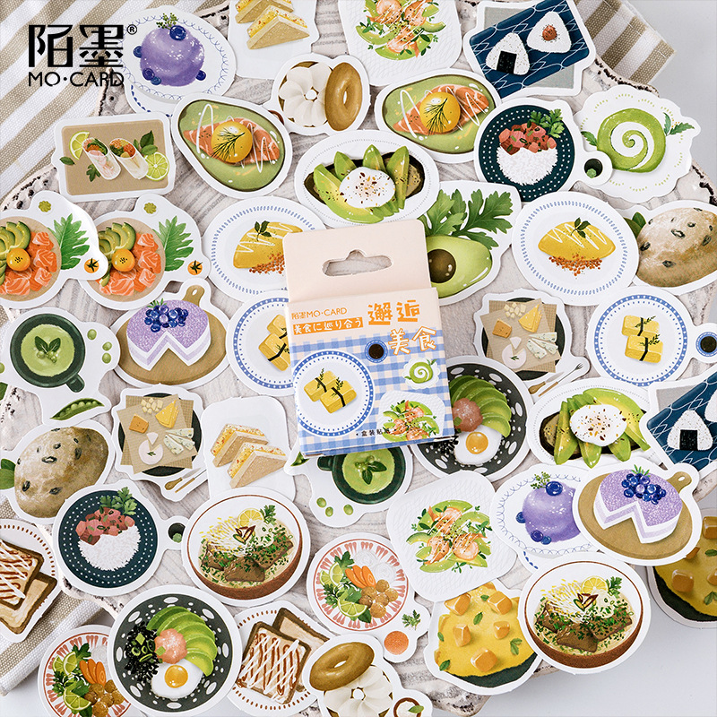 45pcs/pack Food Around The World Stickers Set Scrapbooking Stickers For Journal Planner Diy Crafts Scrapbooking Diary
