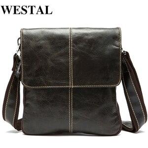 WESTAL hommes sac en cuir véritable sacs à bandoulière pour hommes sac de messager hommes en cuir Vintage hommes sacs à bandoulière hommes sacs à main