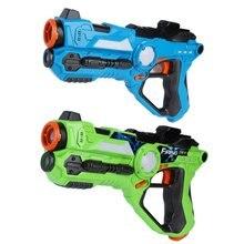 2 шт./компл. cs игровой игрушечный пистолет зеленый и синий Электрический Военная игрушка пистолет инфракрасный датчик пластиковый пистолет для лазертага