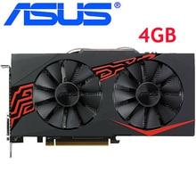 ASUS ekran kartı RX 570 4GB 256Bit GDDR5 pc oyun grafik kartları amd radeon rx 570 kart RX570 4G ekran kartı HDMI DVI kullanılan