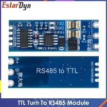 Ttl volta para rs485 módulo de controle fluxo automático de ferragem módulo serial uart conversão mútua módulo fonte alimentação 3.3v 5v