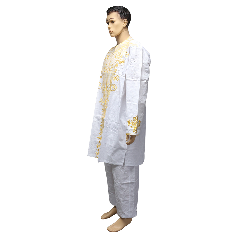 MD men 39 s tops pants set 2 pieces outfit suit mens african clothing bazin africa clothes for men 2019 dashiki shirt with trouser in Africa Clothing from Novelty amp Special Use