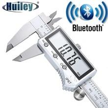 Bluetooth Digital Vernier Caliper Waterproof Stainless Steel Caliper Ruler for Measuring Workpiece Tools Diameter Height Depth