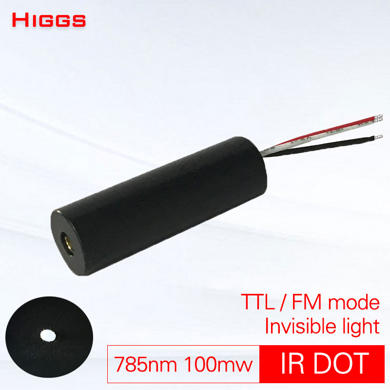 780nm 785nm 100mw IR Infrared TTL Frequency Modulation Dot Laser Module Invisible Light Sight Locator 0-30kHZ Customizable