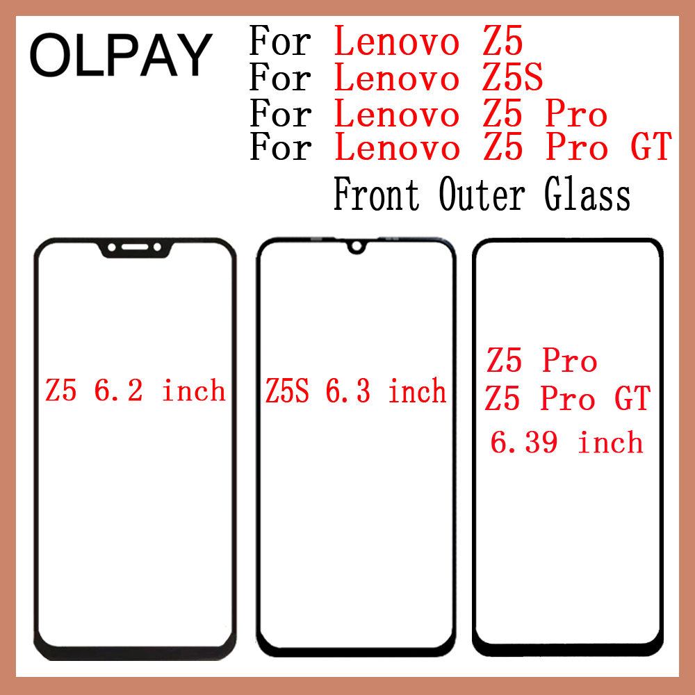 100% Original Touch Screen For Lenovo Z5 Z5S Z5 Pro Z5Pro GT LCD Panel Front Outer Glass Touch Screen Panel Replacement Parts