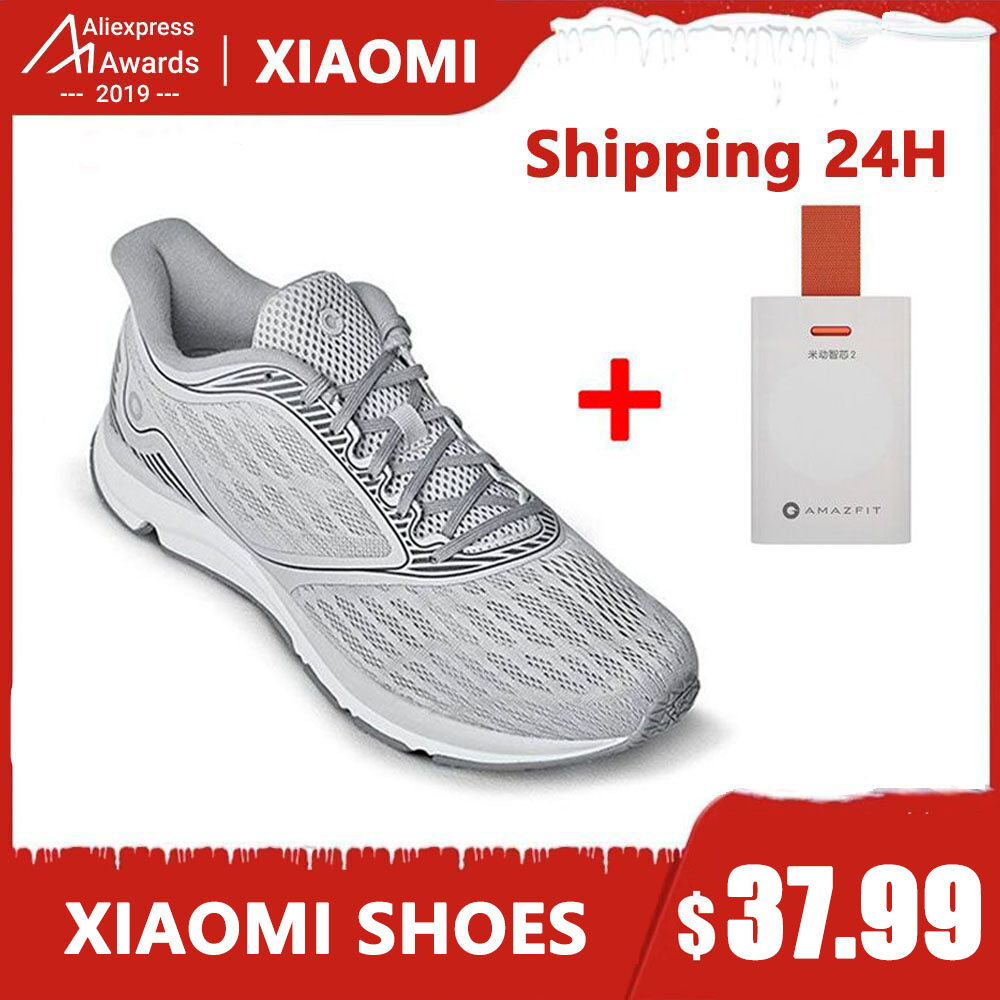 Xiaomi Amazfit Antelope Light Outdoor Running Shoes Goodyear Rubber Non-slip Shock Reduce Support Smart Chip Xiaomi Mijia Shoes