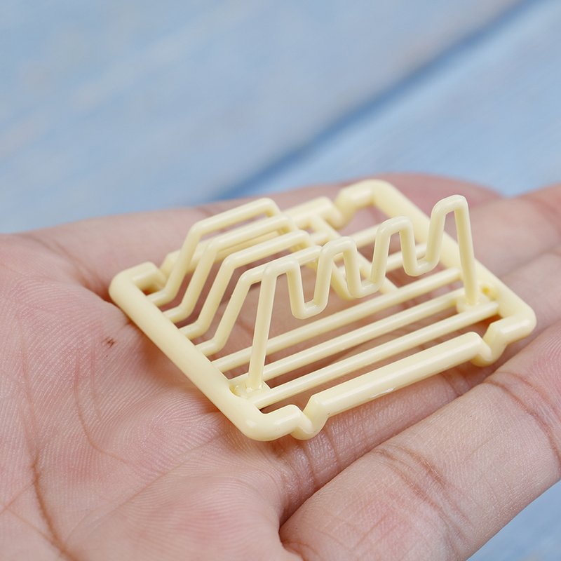 1/12 Dollhouse Miniature Accessories Mini Dish Rack Simulation Furniture Kitchen Storage Shelf Model Toys for Doll House Decor