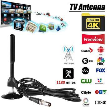 Antena telewizyjna 4K HD o wysokiej mocy DTV cyfrowa antena telewizyjna 28DB 1180 mil wewnętrzny odbiornik sygnału antena hdtv antena telewizyjna tanie i dobre opinie Rondaful Indoor
