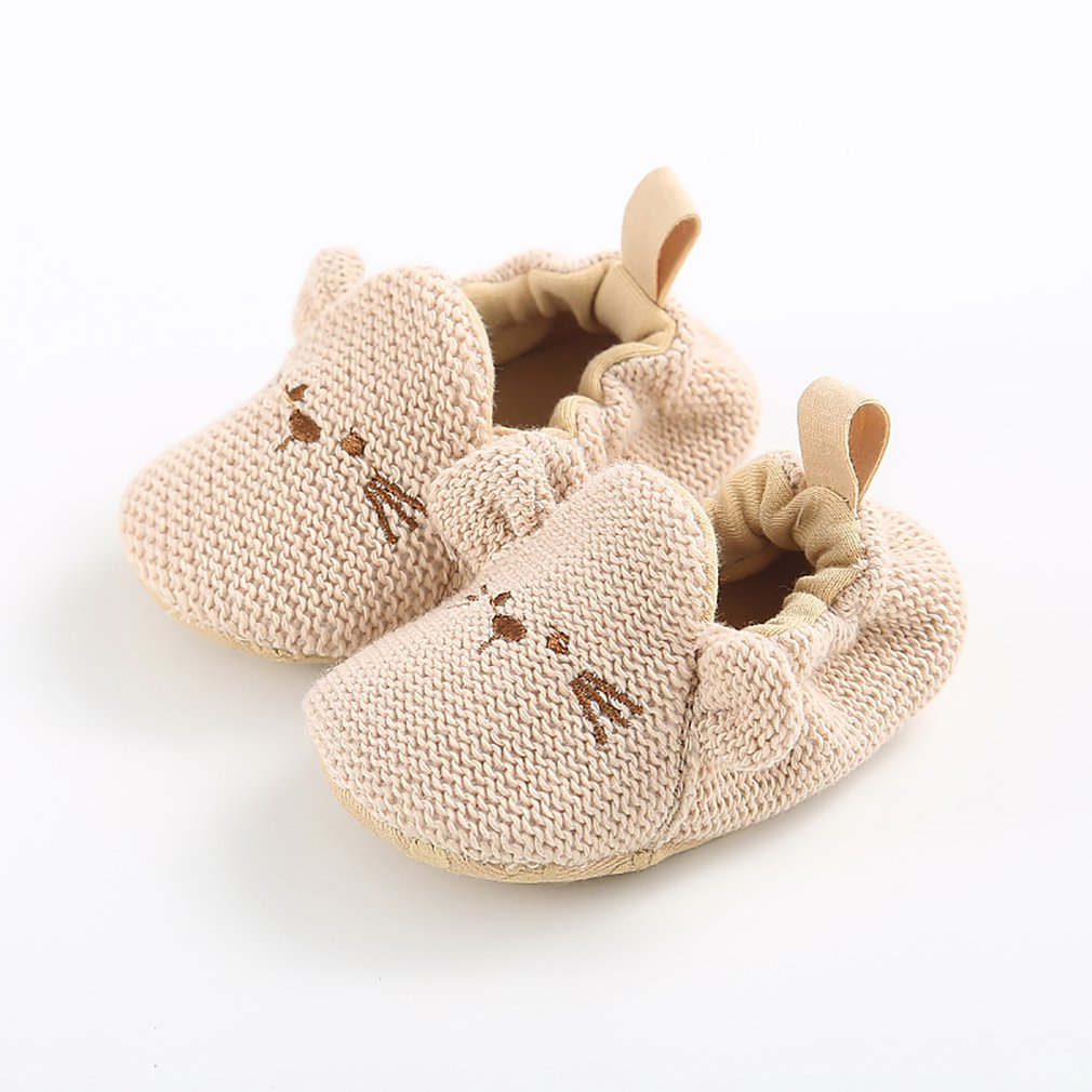 1 Pair Cute Cartoon Baby Shoes Anti-skid Outsole Wool Shoes Warm Winter Shoes Fashion Kids Shoes For Toddlers