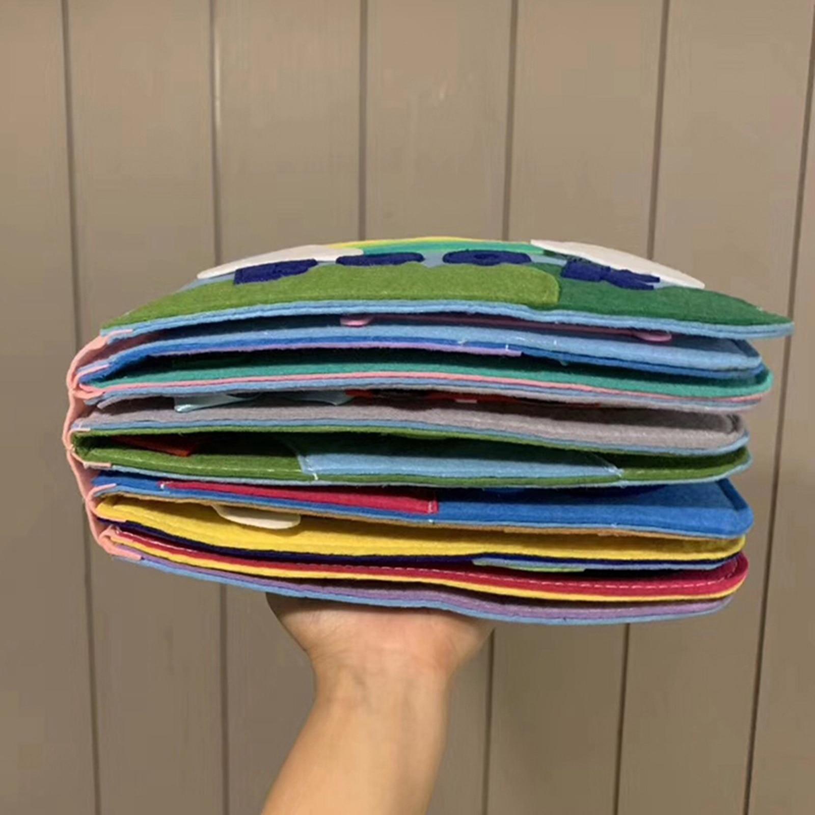 Фетровые бесшумные книги для мальчиков и девочек, ультра мягкая детская книга на ощупь, тканевые 3d-книги для малышей