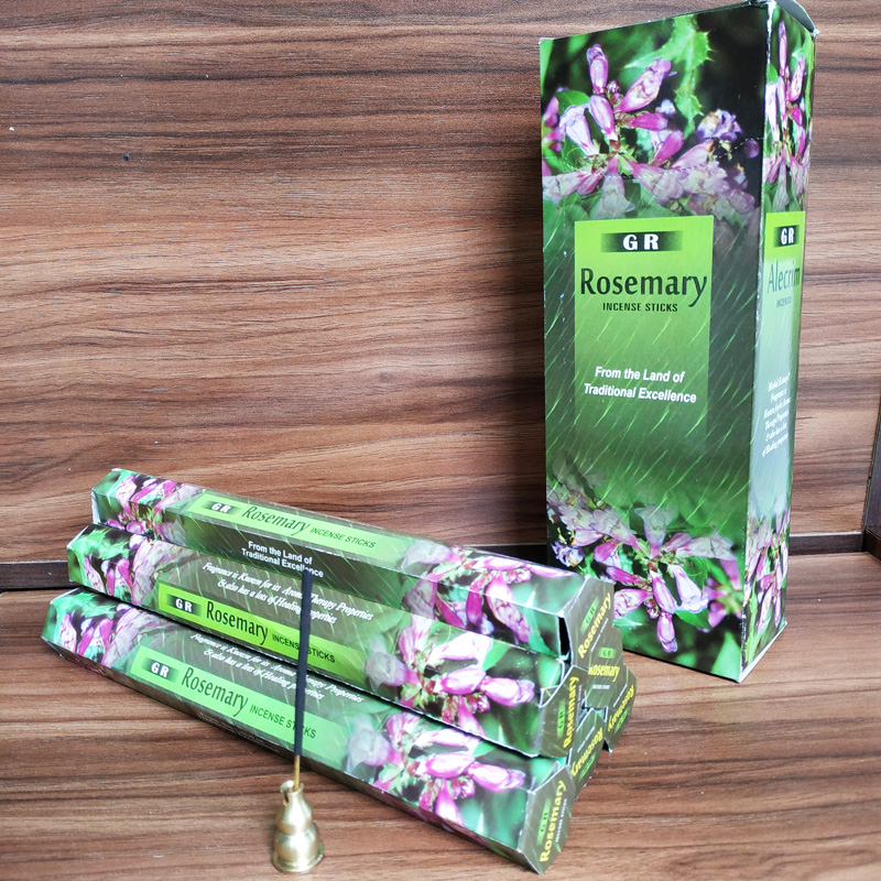 20pcs/box Rosemary Stick Incense Indian Style Handmade Fragrant Sticks Aroma Incense Sticks Home Fragrance Temple Incense Gift(China)