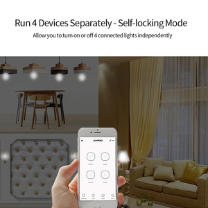 Image 4 - SONOFF 4CH Pro R3 433Mhz RF telecomando senza fili banda a 4 vie canale Wifi relè Inching interblocco Smart Switch domotica