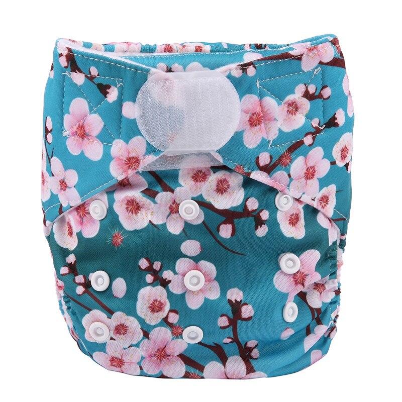[Sigzagor] 1 тканевый подгузник с карманами для детей, подгузник с застежкой-липучкой, с широкими полосками на талии - Цвет: DV6