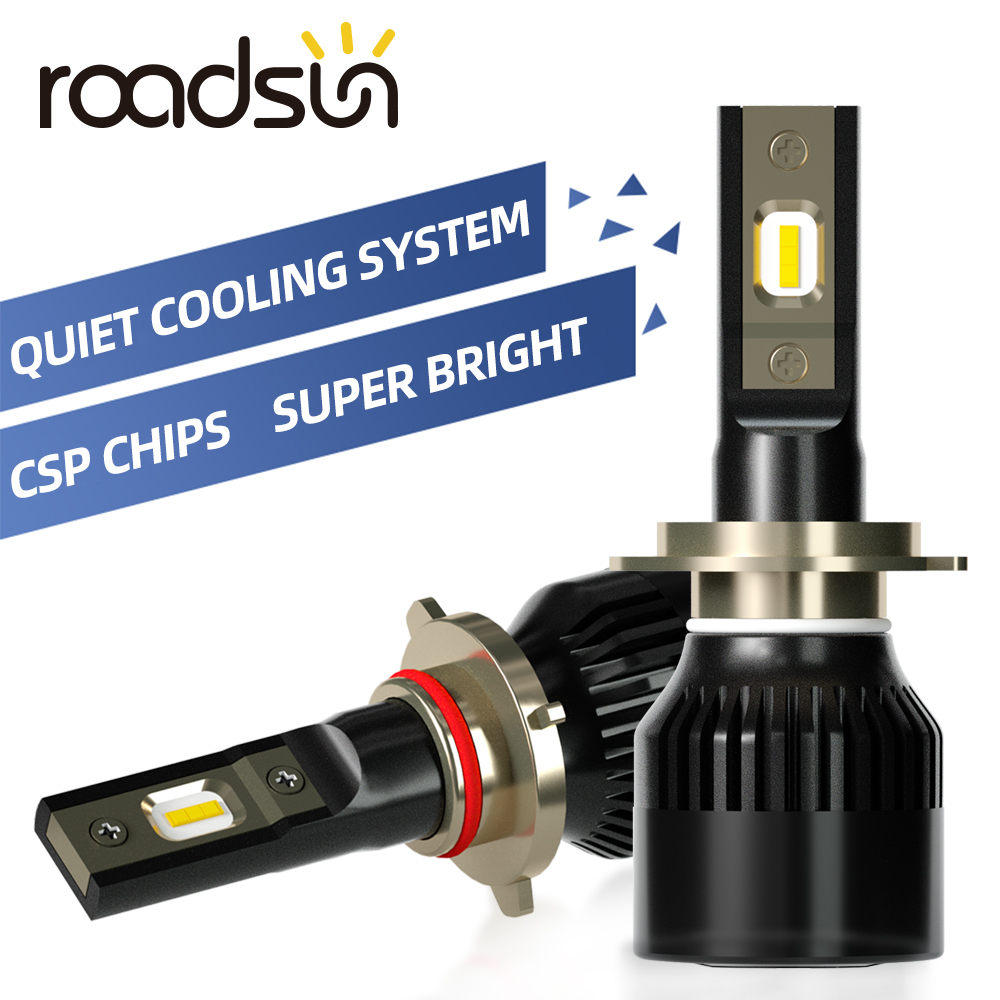 roadsun csp chips h7 led h4 h1 carro farol lampadas led h11 h3 h13 h27 880