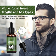 Beard Essential Oil for Men Hair Barbe Facial Beard Growth Enhancer Nutrition Mo