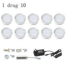 Lâmpada led com interruptor, 4/6/8 unidades, para armário, cozinha, 12v, 2w, para bar lâmpada de vidro de decoração para casa, guarda roupas, lâmpada