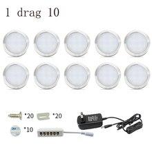 Lampes sous placard, lampes de cuisine LED, 4/6/8 pièces, 12V, 2W, bar avec interrupteur, lampe de garde robe, vitrine, décoration