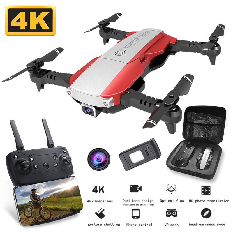 RC Drones With Camera Hd Foldable Quadcopter WIFI Fpv Dron 4k Helicopter Follow Me Photography Professional Gesture Selife Toys