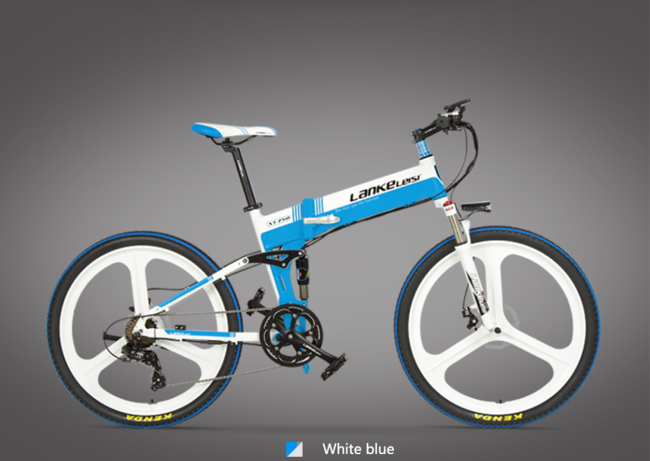 2020 China  LANKELEISI  26 inch bike electric mountain 27 Speeds Hydraulic Suspension Fork 250W 48V 10Ah Lithium Baterry 3