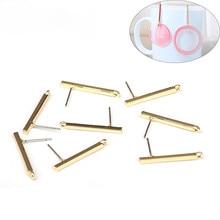 6 teile/los 24*3mm Zink Legierung Gold Lange Spitze Rechtecke Ohrring Basis Anschlüsse Linker für DIY Ohrringe Schmuck zubehör