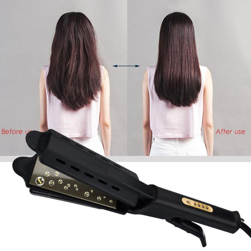 Professional Hair Straightener Four-gear Fast Warm-up Adjustment Ceramic Tourmaline Ionic Flat Hair Straighting Tool Dropshiping
