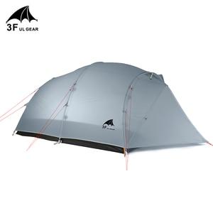 Image 2 - 3F UL GEAR Qingkong 4 человека 3 4 сезон 15D палатка для кемпинга на открытом воздухе Сверхлегкая походная альпинистская охота водонепроницаемая QingKong4