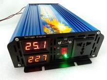 De alta frecuencia de nuevo 2500W pura inversor de potencia de onda sinusoidal y doble pantalla digital y Puerto USB