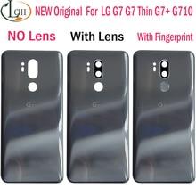 חדש מקורי זכוכית עבור LG G7 ThinQ סוללה כיסוי דלת G7 + G710 G710EM אחורי שיכון חזרה עם דבק עבור LG G7 Fit G7 אחד