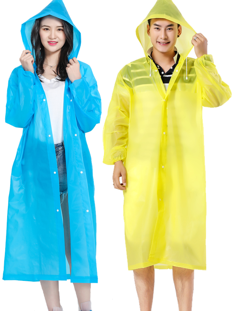 Plastic Scooter Raincoat Women Adult Poncho Travel Overall Raincoat Survival Hooded Chubasquero Mujer Plastic Coat JJ60YY