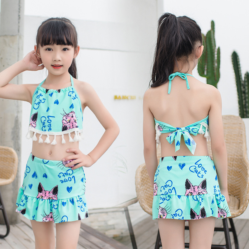 New Style Special Offer 40-55 Jin Children Fashion Backless Multi-color Swimsuit Big Boy Skirt Swimwear Nt108711