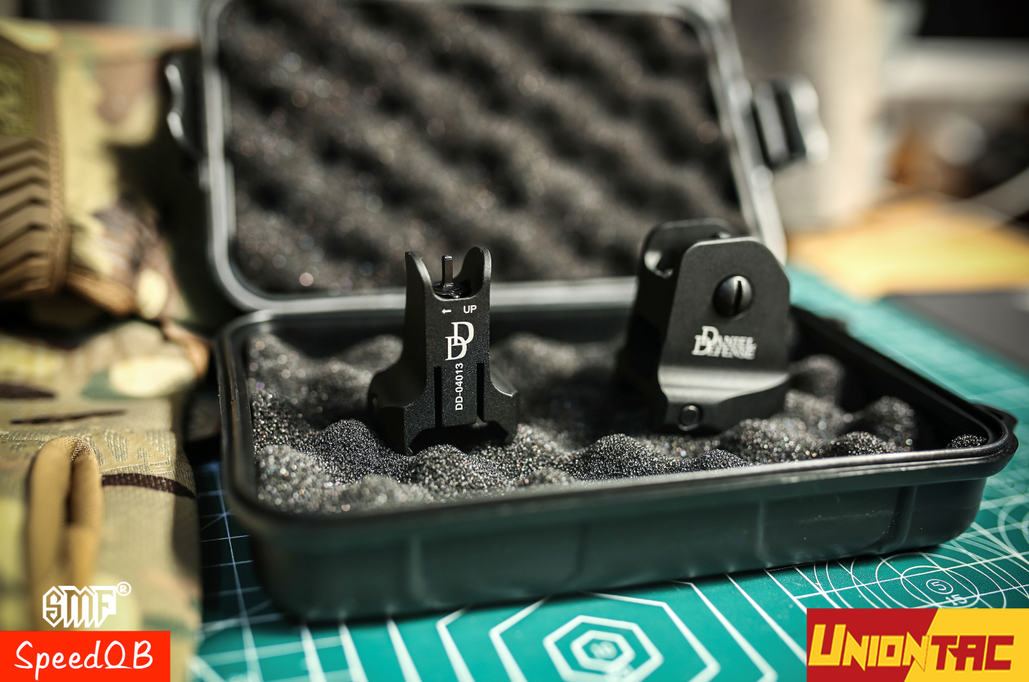 Danile Defense Style Airsoft And Tactical Rear And Front Sight CNC Anodizing Pricess