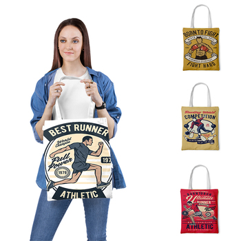 Vintage Printed Tote Bag Women Casual Ladies Shoulder Foldable Shopping Outdoor Beach ladies Handbags