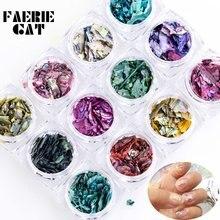 12 цветов нестандартная оболочка для творчества украшения ногтевого