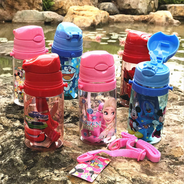 Eco-friendly Kids Drinking Cartoon Water Bottles BPA Free Tritan Straw Children Bottle Children Kettle Portable Sports Bottle