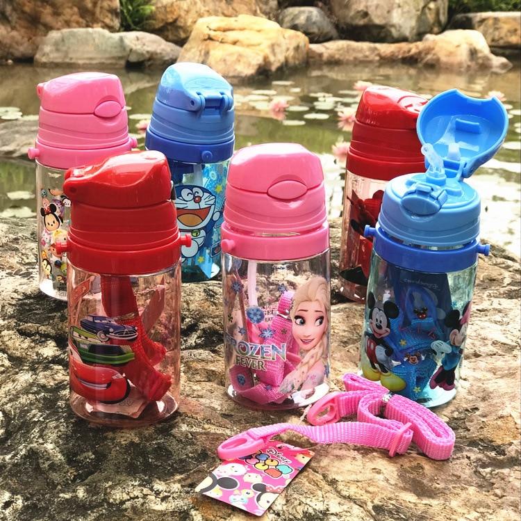 Eco-friendly Kids Drinking Cartoon Water Bottles BPA Free Tritan Straw Children Bottle Children Kettle Portable Sports Bottle
