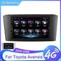 Для Toyota Avensis T25 2002-2008 7 дюймов 4G + 64G WiFi bluetooth Автомобильный android радио мультимедиа видео GPS навигация без DVD