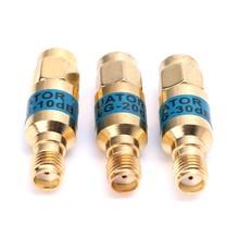 Nova chegada ouro atenuador SMA-JK masculino para fêmea rf atenuador coaxial 2w 0-6ghz 30db suporte de transporte da gota