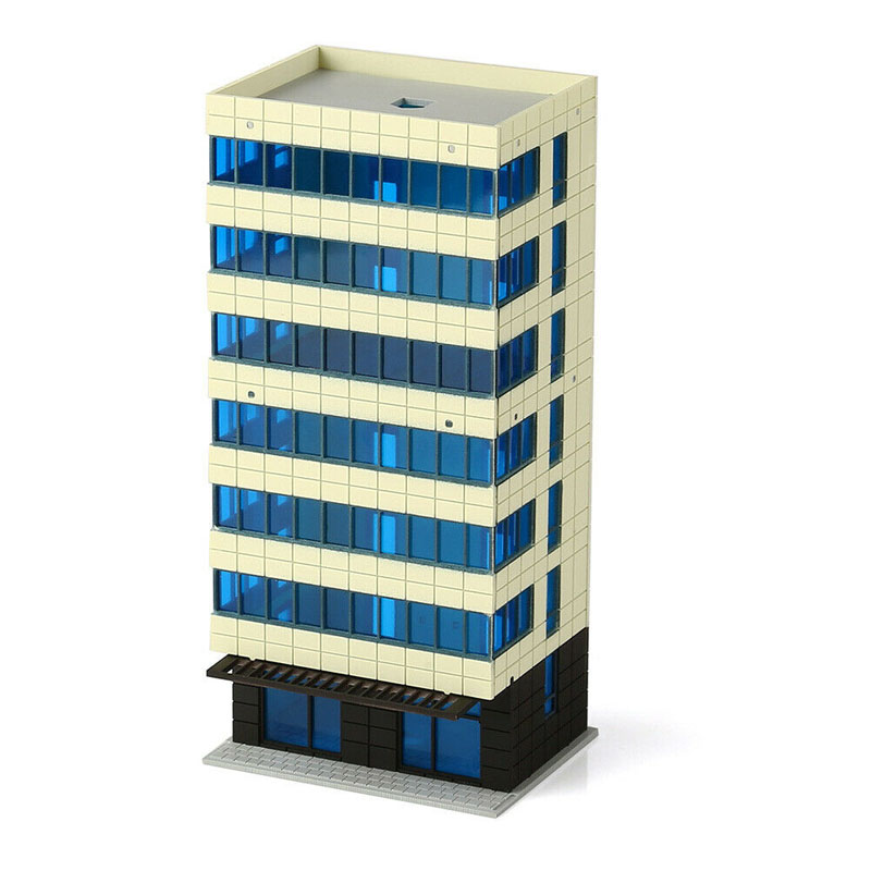 N Scale Outland Models Colored Modern City White Building Grand Apartment