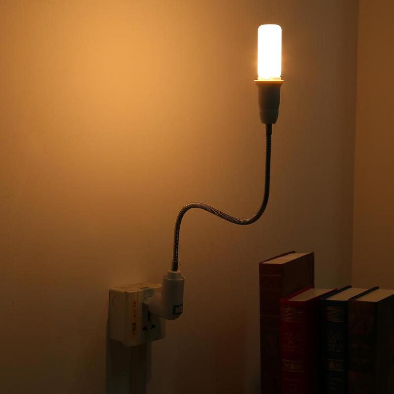 E27-E27 Lamp Flexible Extension Adapter Converter LED Bulb Lamp Lighting Elongation Holder Home Decor