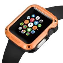 Funda resistente a prueba de golpes para iWatch Apple Watch Series 5 4 3 2 1 40mm 42mm 38mm 44MM accesorios originales de marca de lujo