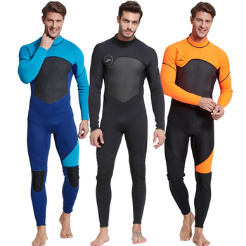 цена на Men's Full Body Wetsuit, 3mm Men Neoprene Long Sleeves Dive Suit - Perfect For Swimming/Scuba Diving/Snorkeling/Surfing Orange