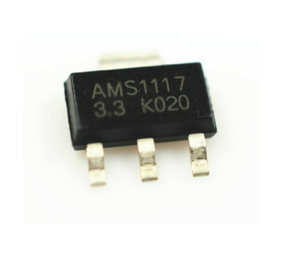 10 AMS1117 ADJ 1A Spannungswandler SOT-223