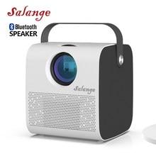 Мини-проектор Salange P52, Native 1280*720P 3000 люмен, поддержка Full HD 1080P светодиодный проектор, 3D проектор для домашнего кинотеатра