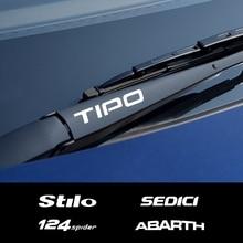 Автомобильные наклейки на ветровое стекло Fiat 124SPIDER ABARTH ALBEA CRONOS MOBI SEDICI STILO TIPO UNO, 4 шт., виниловые наклейки