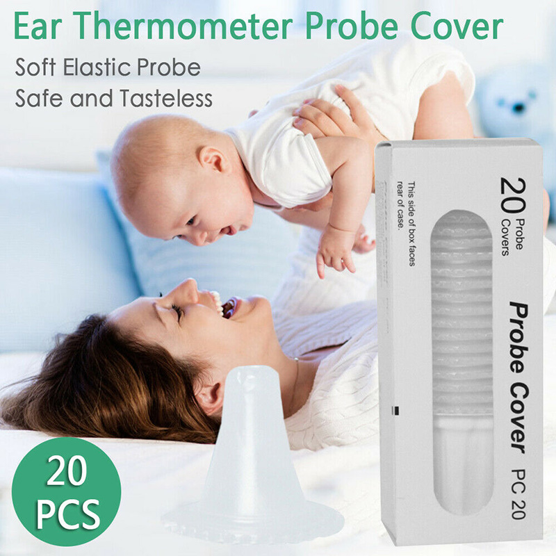 Hot Sale 20pcs Disposable Ear Thermometer Ear Earmuffs Replacement Filter Probe Cover Cap (Have A Gift)