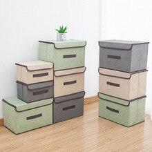 Cloth Folding Storage Box Storage Box with Cover Dustproof Portable Box Clothing Sundry Multifunctional Storage Box
