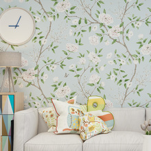 Retro Self-Adhesive Non-Woven Wallpaper Three-Dimensional  Flower Bedroom Wall Stickers Living Home Decor Background Wallpapers