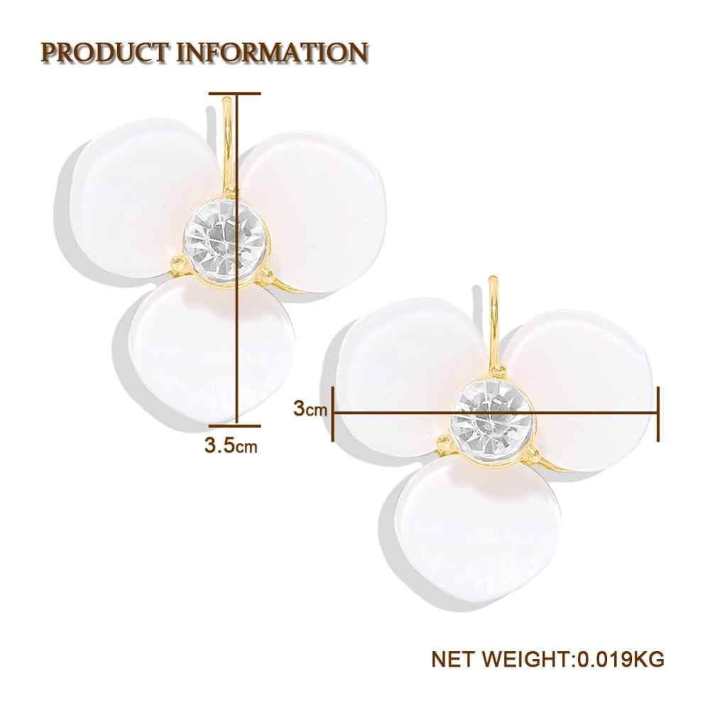 Fashion Resin Metal Tassel ZA Earrings New for Women Trendy Glass Crystal Flower Friendship Dangle Earring Wedding Party Gift